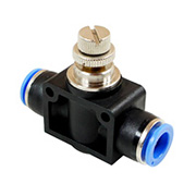 Inline Flow Control Valve Fitting