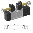 Solenoid valve 5/3 closed center ISO-0 15407-1