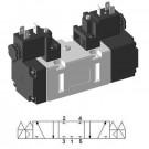 Solenoid valve ISO-2 5/3 closed center