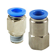 Push-In Fittings Straight | Male and Female Threads