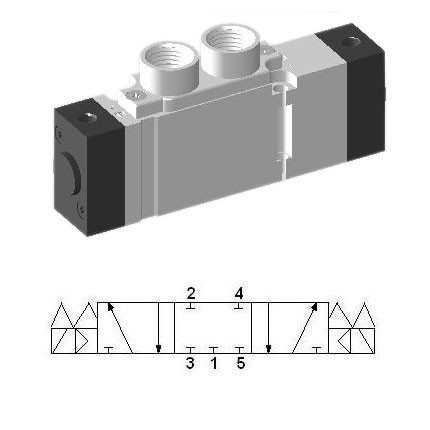 SCEP433 - Pneumatic Valve 5/3 Closed Center