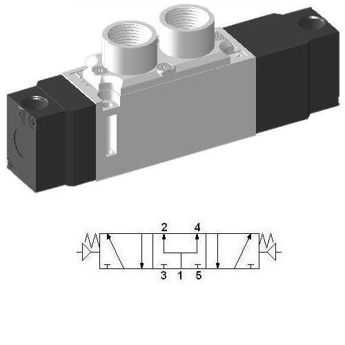 Pneumatic Valve SCEP533 - 5/3 Closed Center