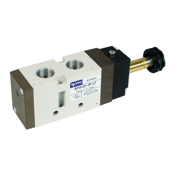 Flexible solenoid valve 5/2 single, for low temperatures