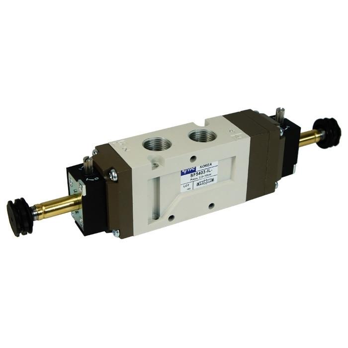 "Solenoid valve 3/8"" - 5/3 open center"
