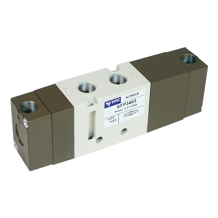Open Center 5/3 Pneumatic Valve by YPC - SFP3403