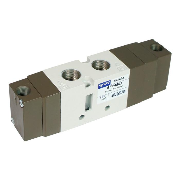 SFP4503 Five Way, Three Position, Pressure Center Pneumatic Valve