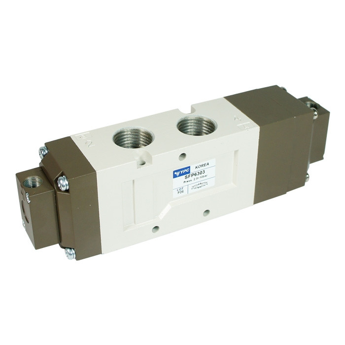 Pneumatic Valve SFP6303, 5-Way, 3-Position Closed Center