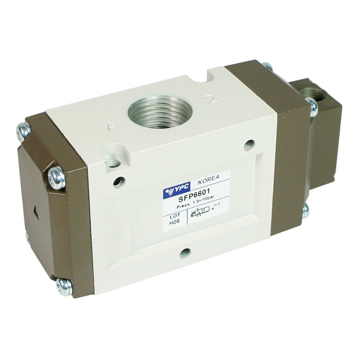 Pneumatic valve SFP5601 - G 3/8, 3-way, 2-position, normally closed
