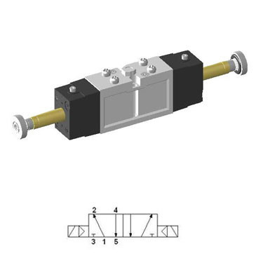Solenoid Valve 5/2 Double SIE220 with 18 mm Body Width