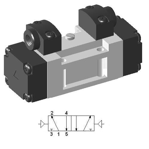 Pneumatic ISO-1 Valve SIP420 - 40 mm Body Width