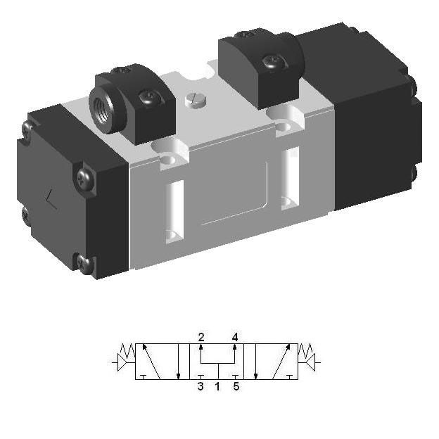 Pneumatic ISO Valve by YPC - SIP553 - 5/3 pressure center
