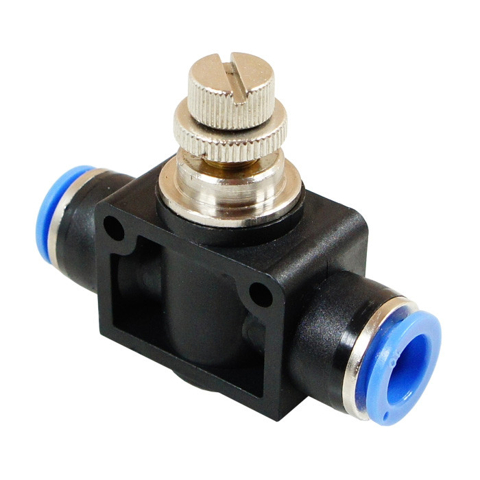 Flow control push-in valve 6mm