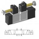 Solenoid valve 5/3 closed center ISO-0 15407-1