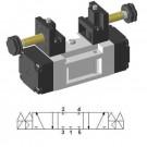 Sub-base mounting 5/3cc solenoid valve ISO 5599-1. SIV433