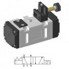 Solenoid valve ISO-2 5/2 single